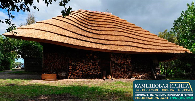 крыша из тростника
